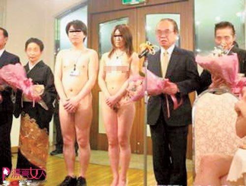 日本婚俗 大跌眼镜的裸体婚礼