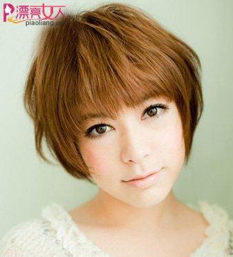 圆脸MM清新短发发型 做氧气美女
