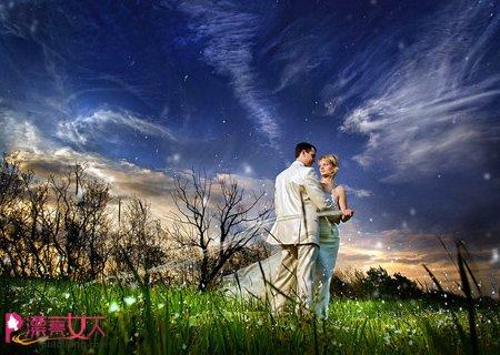 创意婚纱照 女孩们梦寐以求的浪漫