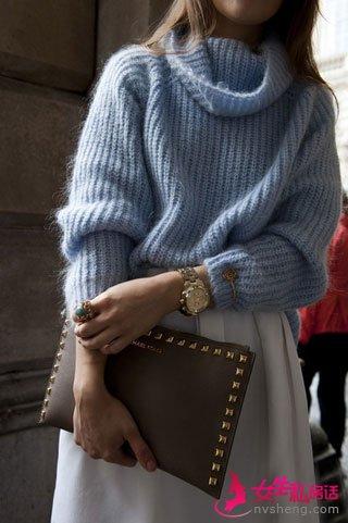 针织衫搭配妙招 时尚又活泼