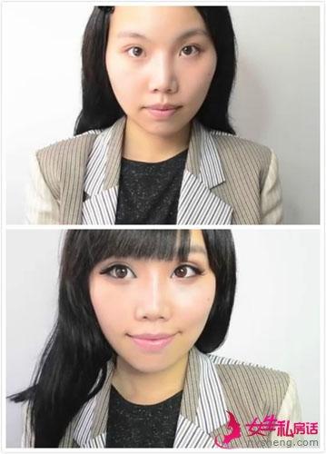 男人不爱画眼妆女生 卸妆前后判若两人