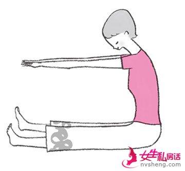 白领MM收腹细腰运动操