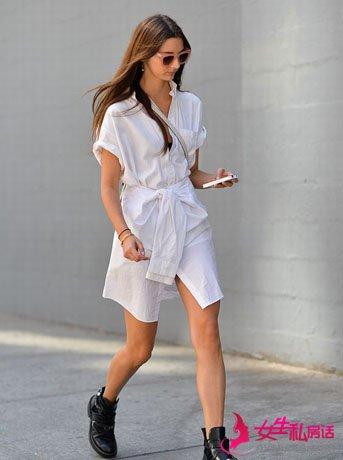 达人示范一件普通白衬衫如何穿出N种造型