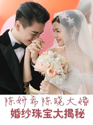 陈妍希陈晓大婚 婚纱珠宝大揭秘