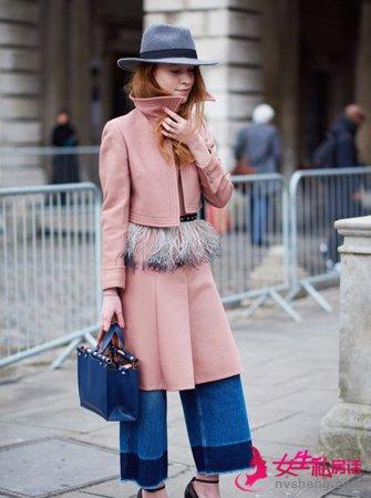 羊绒大衣加上阔腿裤 显瘦和时尚不干扰