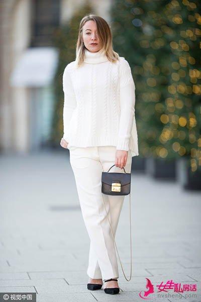 冬天穿白色,做人群中最抢眼的那个~