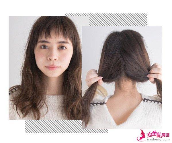 长发女生想戴毛线帽 先学这款发型