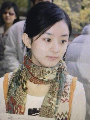 赵丽颖早年选秀照曝光 肤白貌美