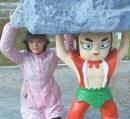 放飞自我!孙俪搞笑模仿葫芦娃雕像