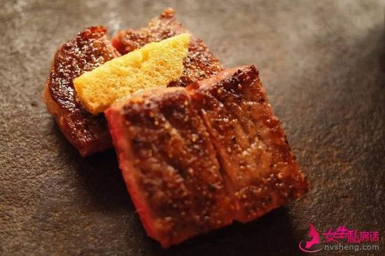 近江牛做的牛排/叶酱