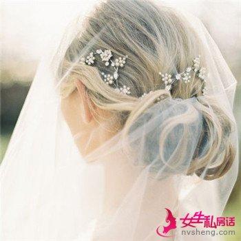 新娘造型图片欣赏 唯美的森系风新娘发型