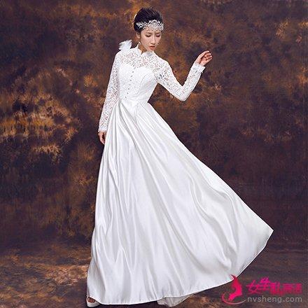 流行的新娘婚纱款式 新娘这么穿准美