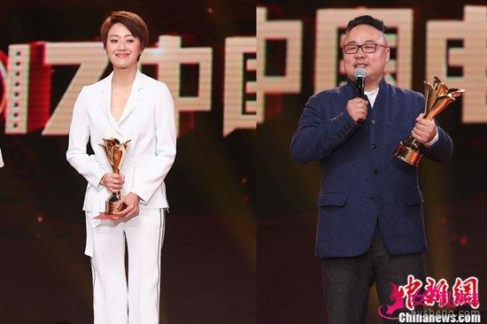 吴军(右)和范志博分获最佳男、女主角。