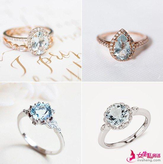 独一无二的彩色宝石婚戒 钻石以外的永恒