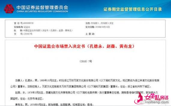 赵薇夫妇禁入证券市场5年并受处罚:分别罚款30万