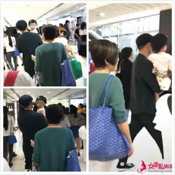 刘恺威离婚后现身 抱小糯米与母亲三人同行