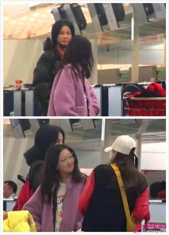 李嫣同王菲现身机场 身穿名牌复古眼镜比妈妈更前卫