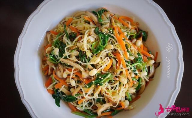 美食推荐:凉拌豆芽,辣椒炒肥肠,炒土豆丝的做法