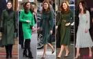 2019年凯特王妃用绿色连衣裙,征