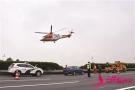立体救援演练 高速公路上飞来直