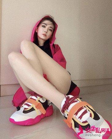 ▲ 為了搭配新鞋謝金燕整身走粉色系。(圖/翻攝自謝金燕IG)