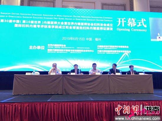 第30届中国(第10届世界)内镜医师大会暨世界内镜医师协会妇科协会成立大会现场。