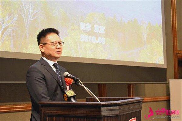 中国驻日本大使馆总领事詹孔朝在推介交流会上致辞。